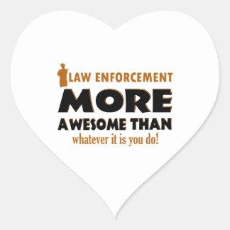 Law Enforcement designs Heart Stickers