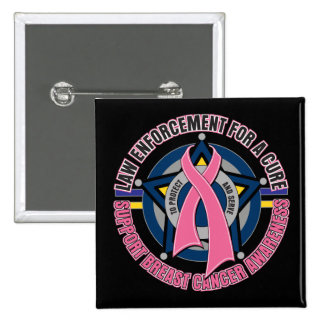 Law Enforcement For A Cure Breast Cancer 15 Cm Square Badge