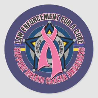 Law Enforcement For A Cure Breast Cancer Round Sticker