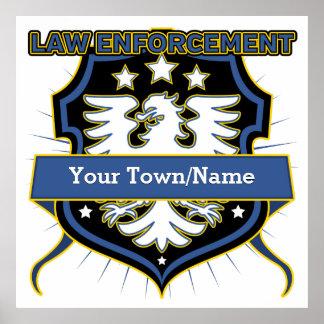 Law Enforcement Heraldry Crest Poster