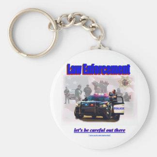 Law Enforcement Basic Round Button Key Ring