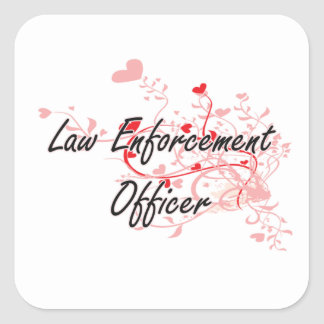 Law Enforcement Officer Artistic Job Design with H Square Sticker