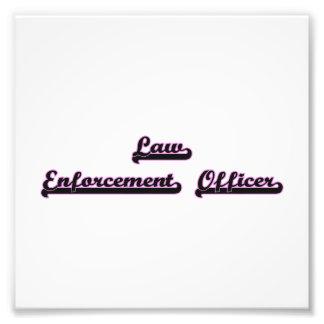 Law Enforcement Officer Classic Job Design Photo Print