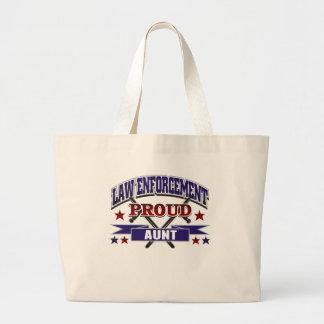 Law Enforcement Proud Aunt Jumbo Tote Bag
