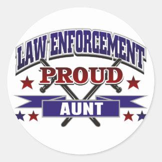 Law Enforcement Proud Aunt Stickers