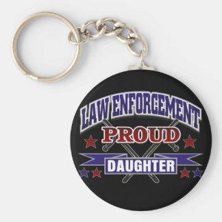 Law Enforcement Proud Daughter Key Chain