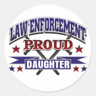 Law Enforcement Proud Daughter Stickers