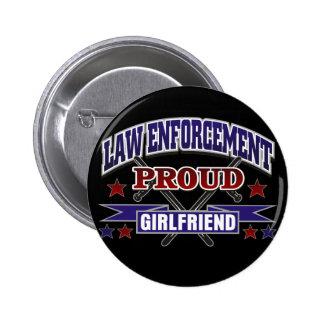 Law Enforcement Proud Girlfriend Button
