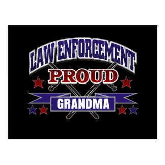 Law Enforcement Proud Grandma Postcard