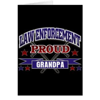 Law Enforcement Proud Grandpa Greeting Cards