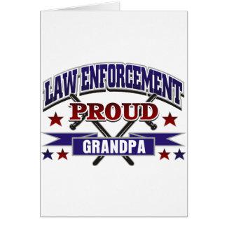 Law Enforcement Proud Grandpa Greeting Card