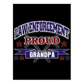Law Enforcement Proud Grandpa Postcard