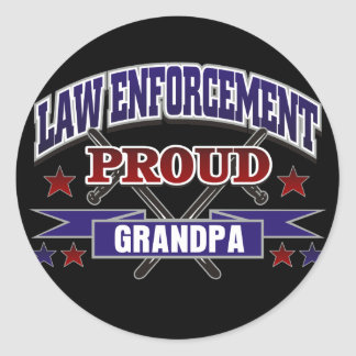 Law Enforcement Proud Grandpa Sticker