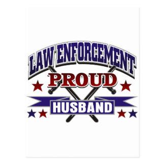Law Enforcement Proud Husband Postcard