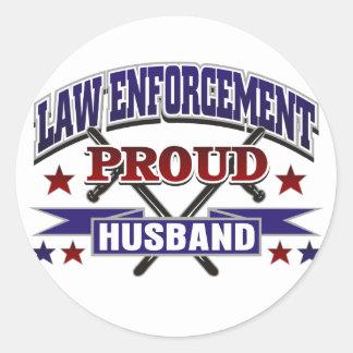 Law Enforcement Proud Husband Stickers