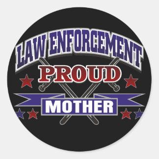 Law Enforcement Proud Mother Sticker