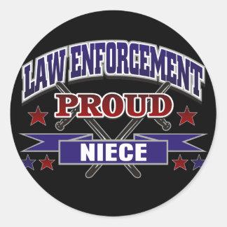 Law Enforcement Proud Niece Stickers
