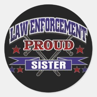 Law Enforcement Proud Sister Sticker