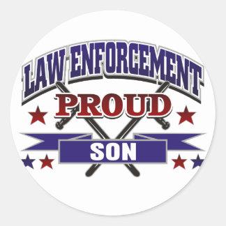 Law Enforcement Proud Son Stickers