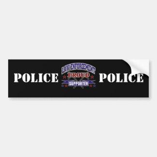 Law Enforcement Proud Supporter Car Bumper Sticker