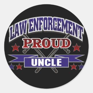 Law Enforcement Proud Uncle Sticker