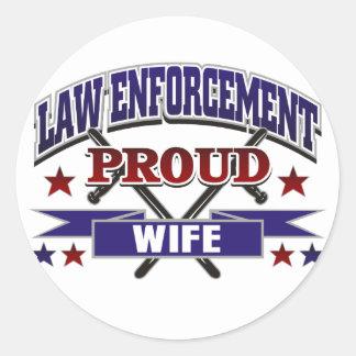 Law Enforcement Proud Wife Stickers