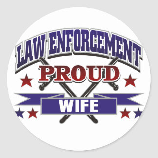 Law Enforcement Proud Wife Stickers