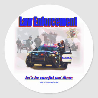 Law Enforcement Round Sticker