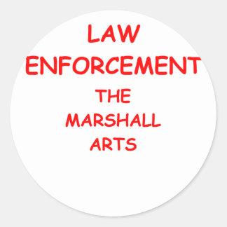 law enforcement round sticker