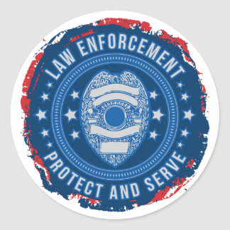 Law Enforcement Seal of Safety Round Sticker