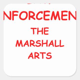 law enforcement square stickers