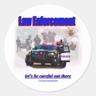 Law Enforcement Classic Round Sticker