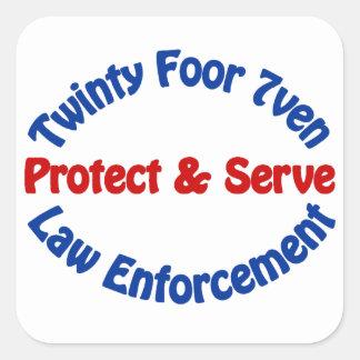 Law Enforcement Square Sticker