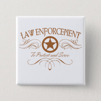 Law Enforcement Western 15 Cm Square Badge