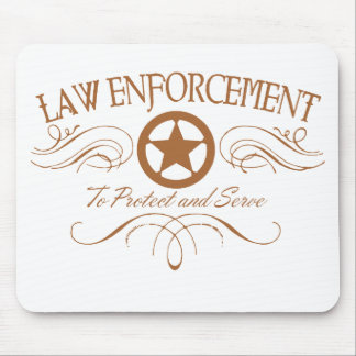 Law Enforcement Western Mouse Mat