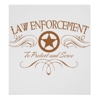 Law Enforcement Western Poster