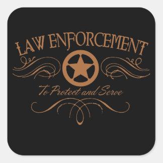 Law Enforcement Western Sticker