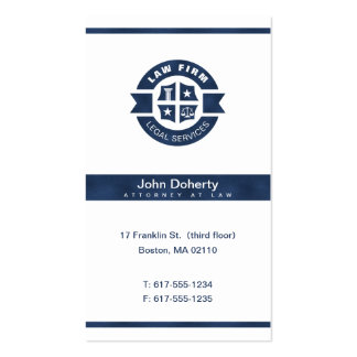 Law Firm | Legal Services Navy Blue Pack Of Standard Business Cards