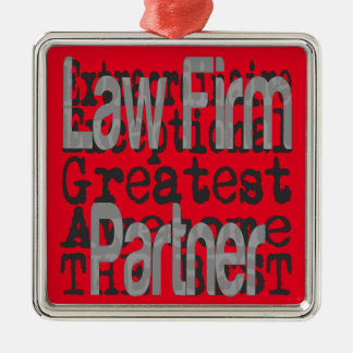 Law Firm Partner Extraordinaire Silver-Colored Square Decoration