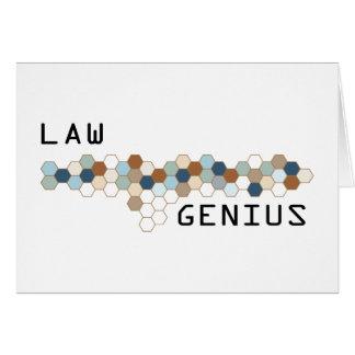 Law Genius Greeting Card