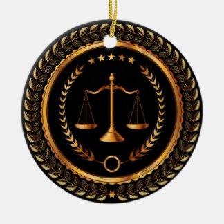 Law, Lawyer, Scales of Justice - SRF Round Ceramic Decoration