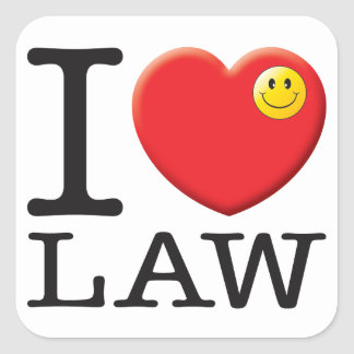Law Love Square Sticker