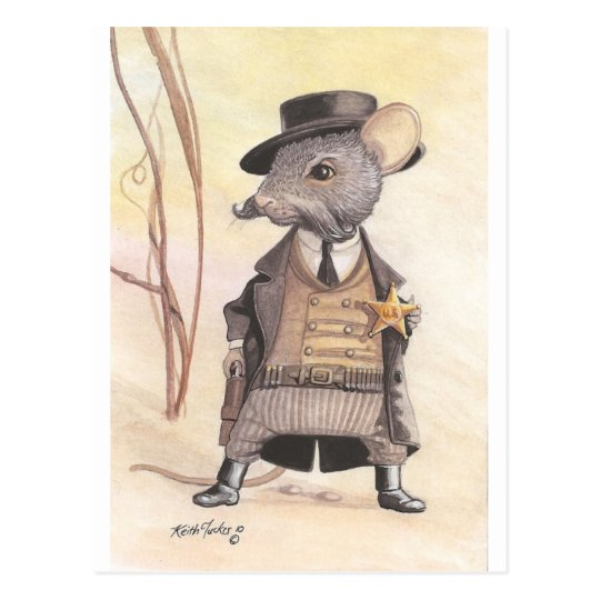 law mouse postcard
