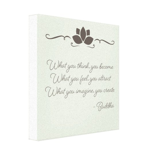 Law of Attraction Buddha Wall Art Canvas