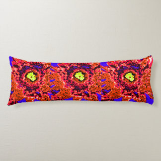 Law of Attraction Quote with Colorful Abstract Art Body Cushion