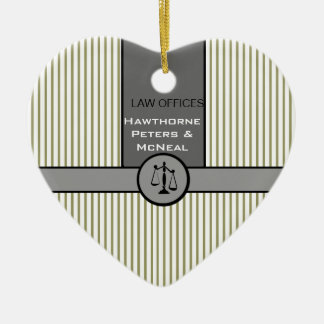 Law Office Attorney Justice Scale Custom Law Gifts Christmas Ornament