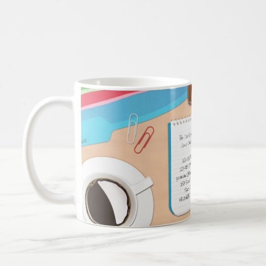 Law / Office Desk Background Mug