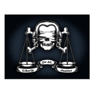 Law Pirate Postcard