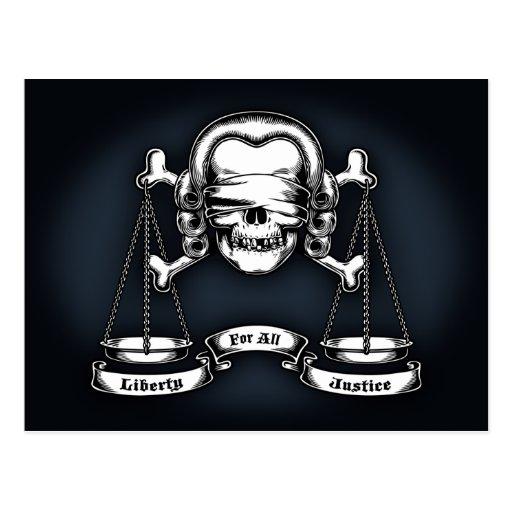 Law Pirate Postcard