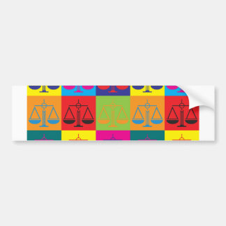Law Pop Art Bumper Sticker